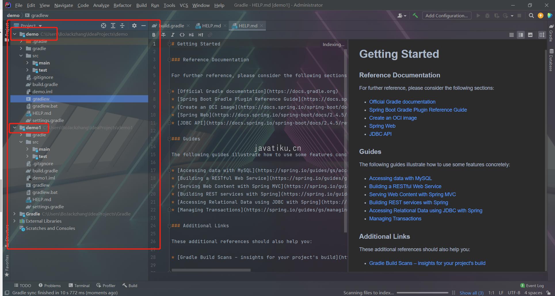 IDEA创建SpringBoot Gradle多项目工程