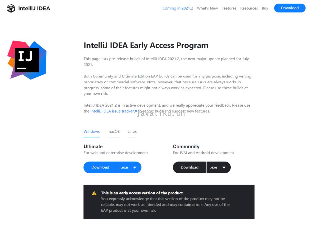 IntelliJ IDEA 2021.2
