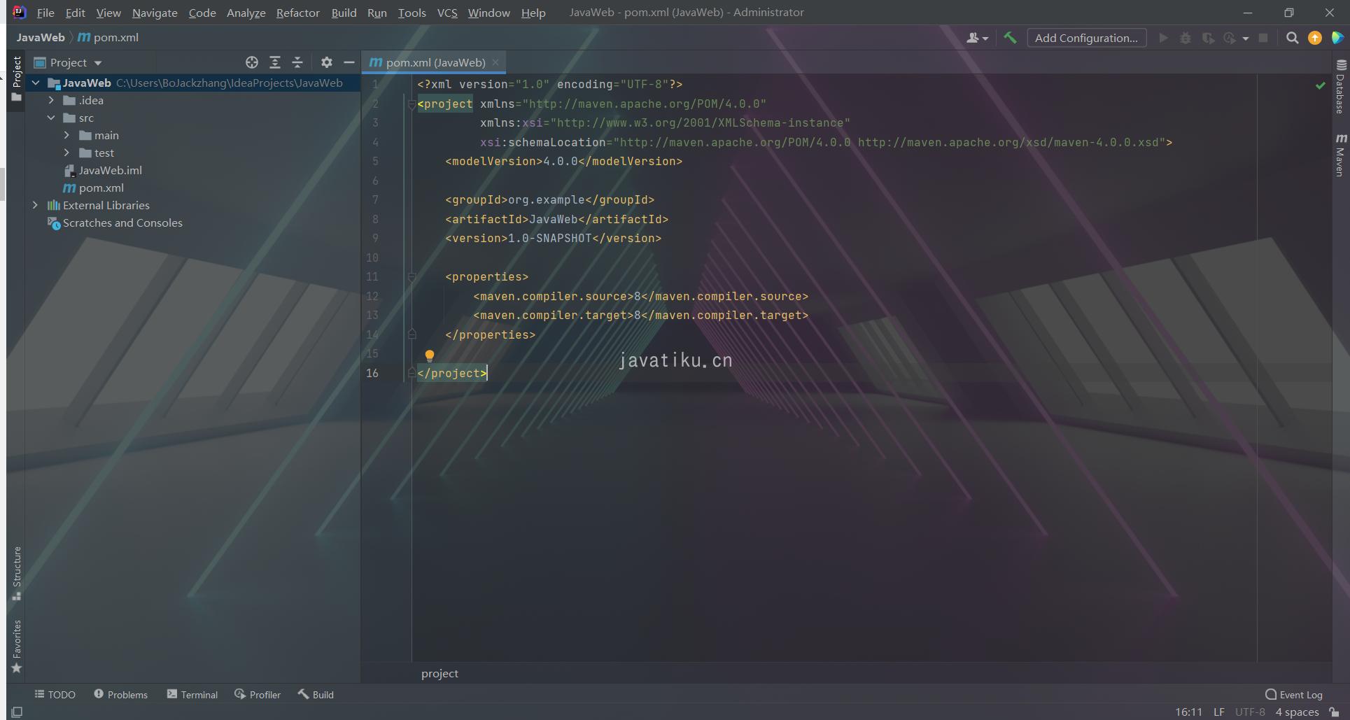 IDEA创建Maven版Web项目